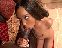 Une grande bite dfonce la vulve de cette petite black !